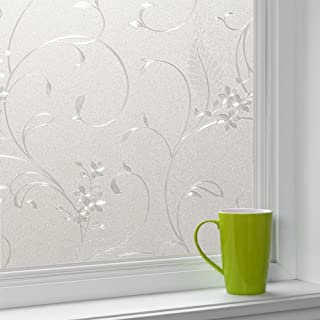 Cumyton Self-Adhesive Window Film Door Sticker Glass Film 17.7 by 78.7 in