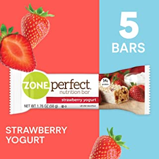 ZonePerfect Protein Bars, Strawberry Yogurt, High Protein, With Vitamins & Minerals (5 Count)