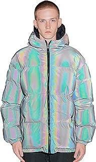 Chaqueta reflectante de doble cara acolchada de algodón para hombre, brillante, gruesa y suelta, chaqueta cálida para homb...