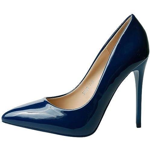 873c543e02 Feet First Fashion Danita Womens High Stiletto Heel Pointed Toe Court Shoes