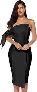 Women's One Shoulder Party Dress Club Bodycon Strapless Dress