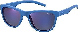 Polaroid PLD 8018/S PLD8018SZDI47JY Polarized Rectangular SunglassesBLUE47 mm