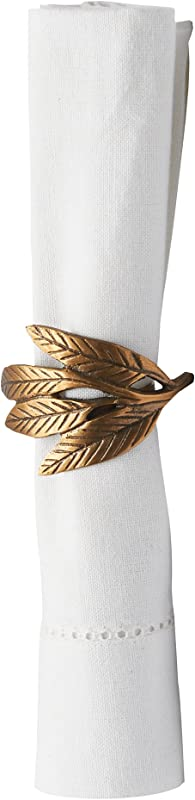 C F Home Olive Leaves Spring Summer Easter Celebration Everyday Hand Crafted Decorative Parties Occasion Napkin Ring Set Of 6 Napkin Ring Set Of 6 Olive Leaves