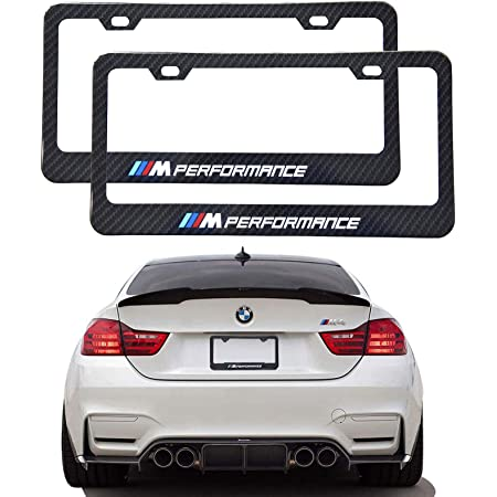 Amazon Com Sparkle Um 2pcs M Logo License Plate Aluminium Alloy Frame With Carbon Fiber Textured Glossy Finish Logo For Bmw M Performance Automotive