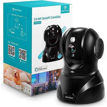 【新バージョン】HeimVision ネットワークWIFIカメラ1536P 300万画素Alexa対応 防犯 Wi-Fiカメラ 動体検知 暗視機能 警報通知 WIFI/LANケーブ対応 双方向音声 録画可能 安全対策 ペット/子供/老人見守り 技適認証済み 日本仕様