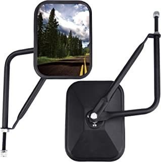 JUSTTOP Jeep Mirrors Doors Off, Side View Mirrors for Jeep Wrangler CJ YJ TJ JK JL & Unlimited,Quicker Install Door Hinge ...