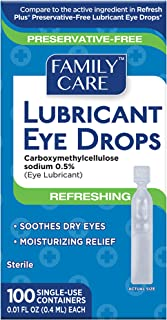 Sponsored Ad - Family Care Refreshing Lubricant Eye Drop Single Use Vials 1 Pack (100 Count)
