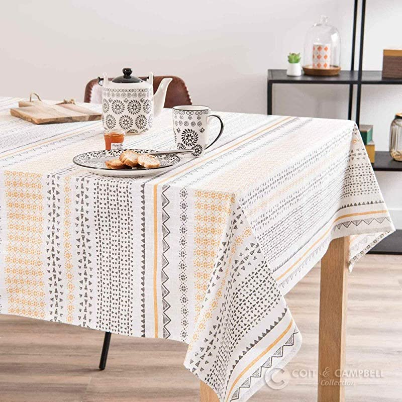 Coit Campbell Collection Printed Tablecloth 54 X 72 Sunshine