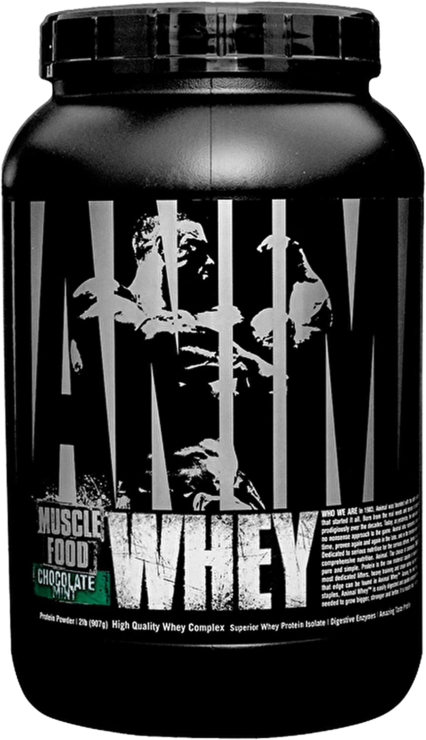 Universal Nutrition Animal Whey Isolate Loaded Whey Predein Powder Supplement, Chocolate Mint, 2 Pound