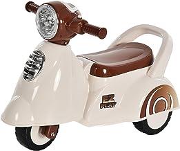 HOMCOM Porteur Enfants Moto 12-36 Mois dim. 66L x 46l x 43H cm Effets Lumineux et sonores Coffre Blanc Marron