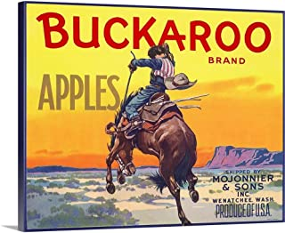 GREATBIGCANVAS Gallery-Wrapped Canvas Bucking Bronco by 14