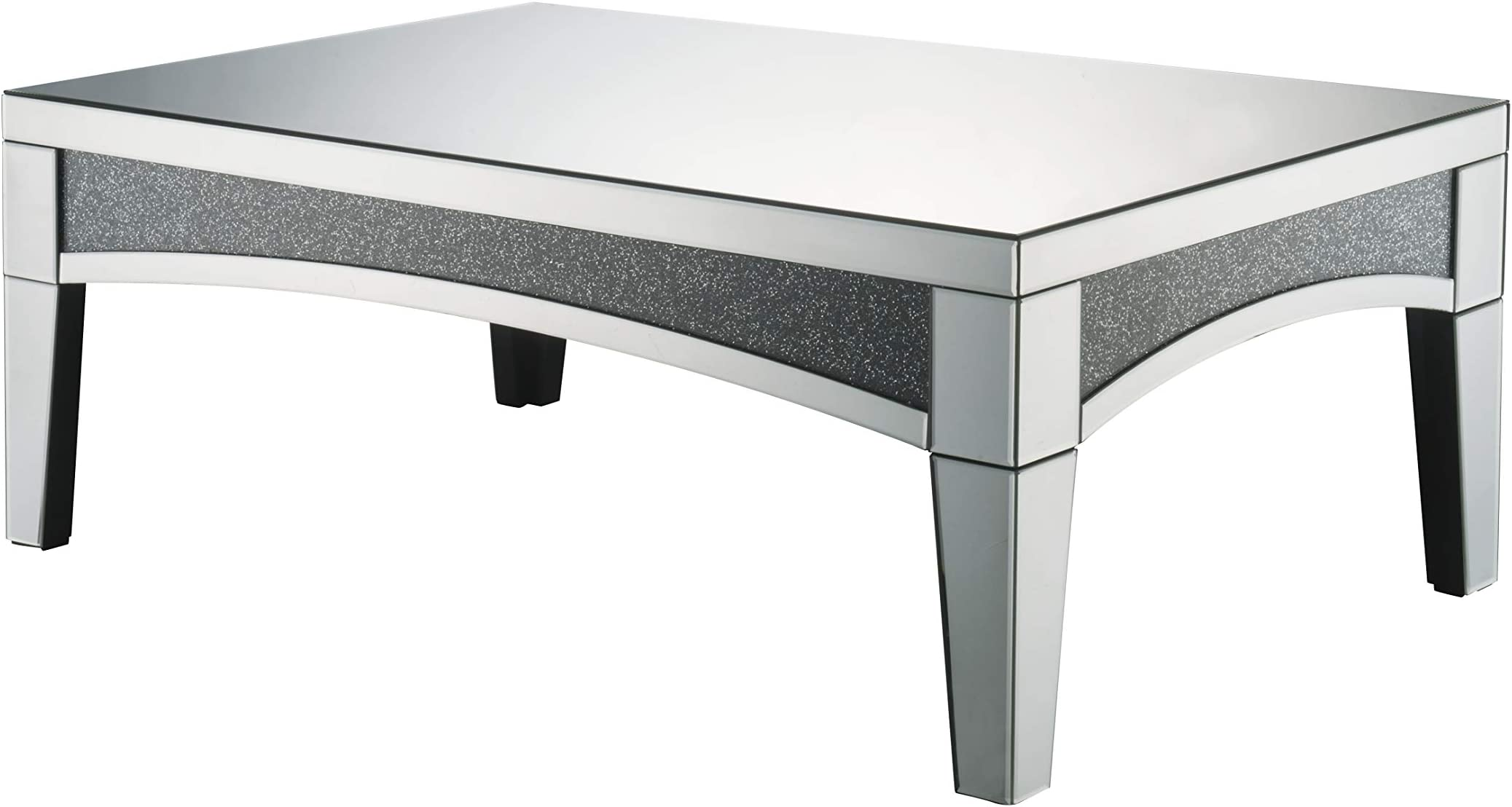 Amazon Com Acme Furniture Coffee Table Mirrored Furniture Decor