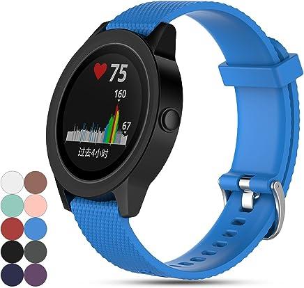 for Garmin Vivoactive 3 GPS Smartwatch Strap Band, Feskio Replacement Soft Silicone Sport Quick Release Watch Strap Wriststrap Bracelet for Garmin Vivoactive 3