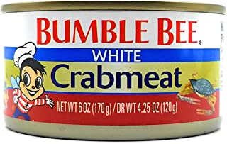 BUMBLE BEE Premium Select White CRABMEAT 6oz. (3 Cans)