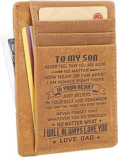 Men's 10 Card Slots RFID Blocking Bifold Wallet Slim Leather Front Pocket Wallet