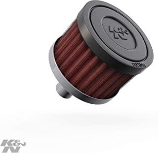 K&N Vent Air Filter / Breather: Washable and Reusable: 0.5 in (13 mm) Flange ID; 1.5 in (38 mm) Height; 2 in (51 mm) Base; 2 in (51 mm) Top , 62-1010
