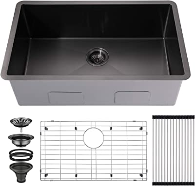 Kraus Khu100 26 Standart Pro 16 Gauge Undermount Single Bowl Kitchen Sink 26 Inch Stainless Steel Amazon Com