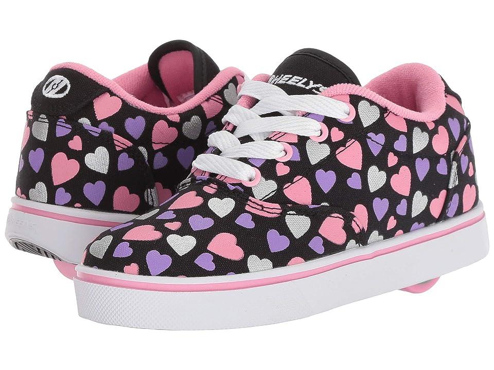 Heelys Launch (Little Kid/Big Kid/Adult) (Black/Multi Hearts) Kids Shoes
