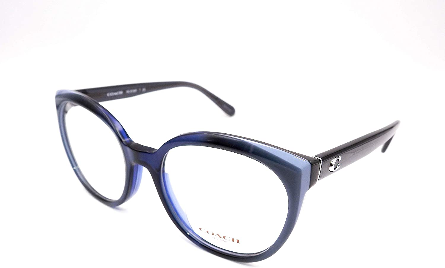 Complete Free Shipping Eyeglasses Coach HC 6130 Easy-to-use LAMINATE BLUE 5533 F