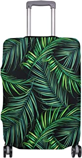 Mydaily Tropical Palm Leaves Luggage Cover Fits 26-28 Inch Suitcase Spandex Travel Protector L