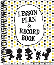 Eureka Peanuts Geometric Back to School Classroom Supplies Record and Lesson Plan Book for Teachers, 8.5'' x 11'', 40 Weeks