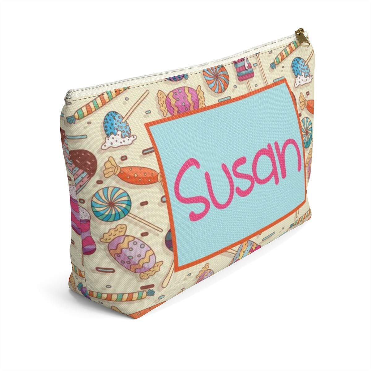 Personalized Cosmetic Bag Opening large favorite release sale Travel Accessory Pouch u Make