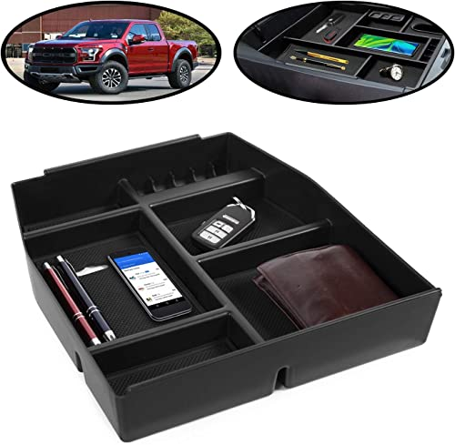 lowest lebogner outlet sale Center Console Organizer Storage Tray Compatible With Ford F150, Armrest Console Secondary Accessories Box With 5 Compartments, Coin Holder & Glasses Holder, Full sale Tray (2015-2021 Most Models) outlet sale