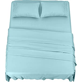 Utopia Bedding Bed Sheet Set - 4 Piece Queen Bedding - Soft Brushed Microfiber Fabric - Shrinkage & Fade Resistant - Easy Care (Queen, Spa Blue)