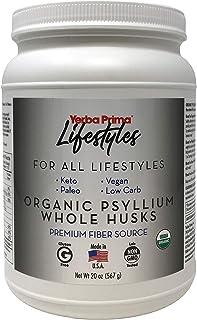 Yerba Prima Lifestyles 100% Organic Psyllium Whole Husks, Gluten Free & Non-GMO, 20 Oz