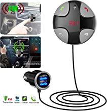EEEKit Bluetooth FM Transmitter, Wireless in-Car FM Transmitter Radio Adapter Car Kit, Universal Car Charger with Dual USB Charging Ports, Hands Free Calling for All Smartphones