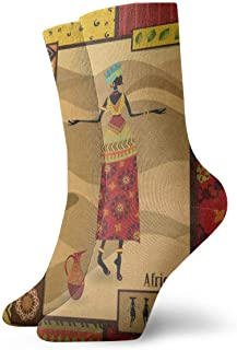 BEDKKJY, Calcetines Deportivos Vintage Dog Wolf Abstract Vintage Unisex Dress Stocking Gift Sock Liquidación para niños