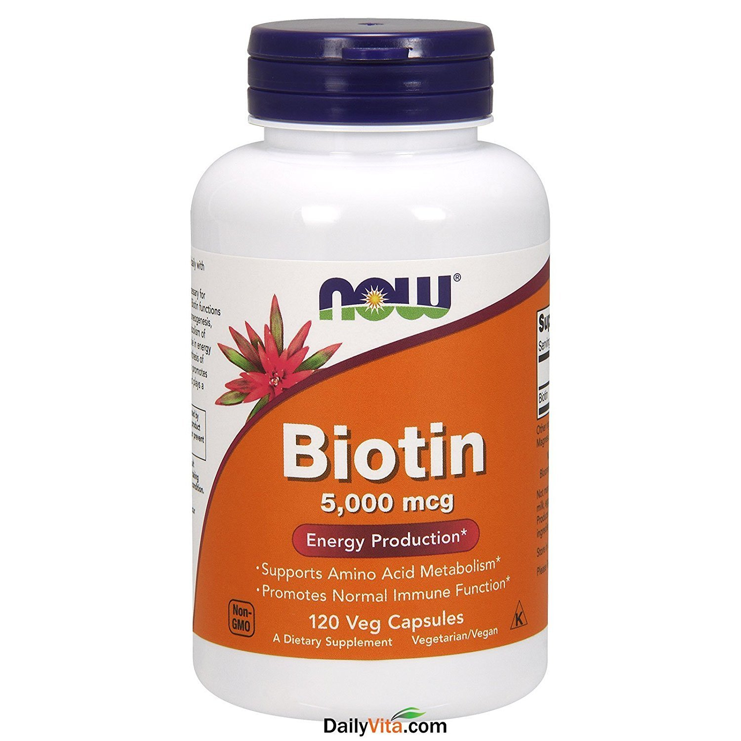 NOW Foods Long Beach Mall by Now Biotin Sale Energy Vcaps mcg- 120 5000 Production