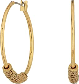 LAUREN Ralph Lauren - Hoop with Textured Rings Earrings