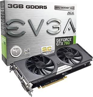 EVGA GeForce GTX780 SuperClocked w/EVGA ACX Cooler 3GB GDDR5 384bit, DVI-I, DVI-D, HDMI,DP, SLI Ready (03G-P4-2784-KR)