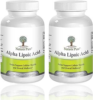 Simply Nature's Pure Alpha Lipoic Acid 600mg 120 Veggie Capsules RLA R-LA R-Lipoic S-Lipoic, ALA, Thioctic Acid 4 Month Su...