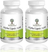 Simply Nature's Pure Alpha Lipoic Acid 600mg 120 Veggie Capsules RLA R-LA R-Lipoic S-Lipoic Highest Quality ALA, Better Bioavailability Also Known as Thioctic Acid - Pack of 2