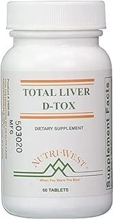 Nutri West Total Liver D-Tox - 60 Tablets