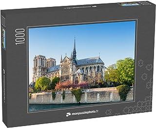 monpuzzlephoto Puzzle 1000 pièces La cathédrale Notre-Dame de Paris par Un après-midi de Printemps, Image panoramique