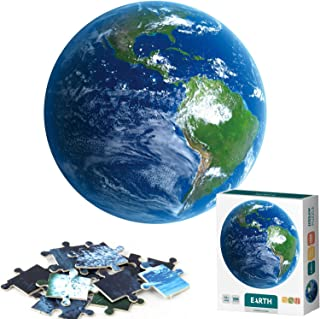Arrbo 1000 Piece Puzzles for Adults, Earth Puzzles with Poster, Grown up Puzzles Educational Games Toys Gift for Adults, Families and Kids Ages 8 and up, 27
