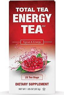 Total Tea Detox Guayusa Energy Tea - All Natural Herbal Caffeinated Tea Cleanse - Increase Energy & Focus - Coffee Substit...