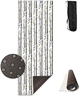 ZZ Power Fitness Yoga Mat,Lovely Bamboo Forest - Toallas Antideslizantes Únicas para El Ejercicio En El Piso De Casa