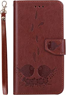 Protect Huawei P8 Lite 2017 Phone Cover Wallet Card Holder Leather Flip Phone case for Huawei P8 Lite 2017 Phone case for Fashion (Color : Brown)
