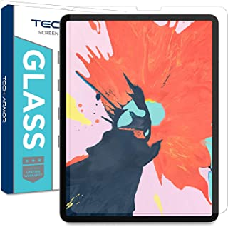 Tech Armor Ballistic Glass Screen Protector Designed for Apple iPad Pro 12.9 inch (2018) – Ultra-Thin 0.25mm for Extreme Touch Sensitivity (Works with Face ID and Apple Pencil) [1-Pack]