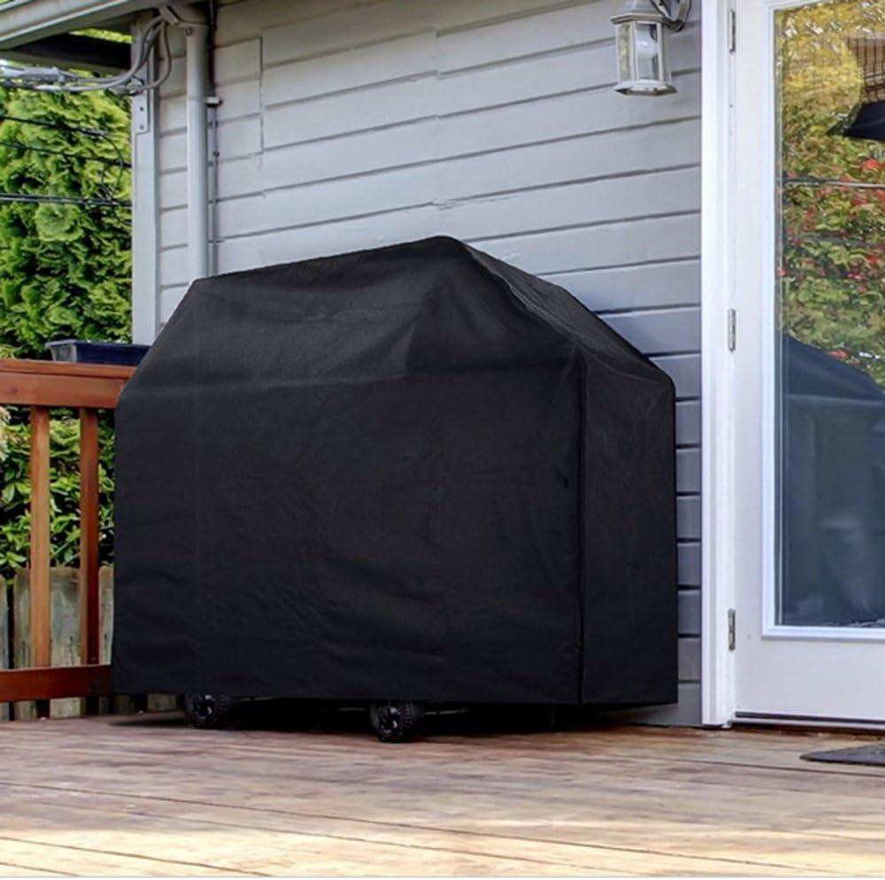 Vegkey Housse Barbecue, Housse Bâche de Protection Barbecue Bache Barbecue, Anti-UV Housse de Protection Barbecue pour Weber, Holland (Noir) Noir