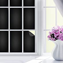 CosyVie Matte Blackout Window Film 100% Light Blocking Static Cling Tint for Privacy Room Darkening Window Film for Glass Heat Control and UV Prevention