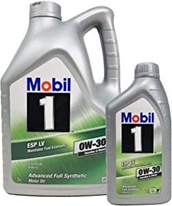 Mobil Oil 100  Synthetic Engine Petrol Diesel ESP 0W-30  Pack Litres