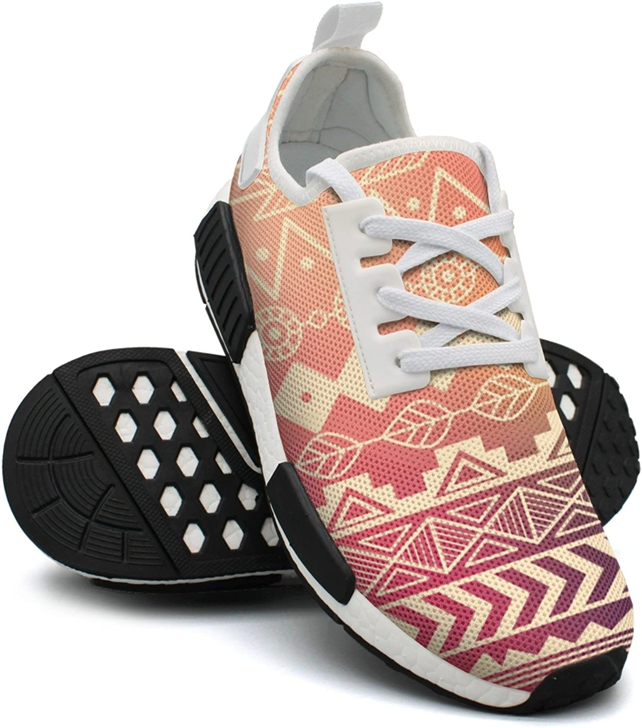 Camping Tribal Asian Textiles Womens Funny Running shoes