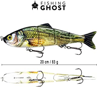 FISHINGGHOST XXL Musky Lures Swimmbait Candy, 2.9oz, 7.9in, Swimbait Lures/Musky Fishing Lures for Fishing for Predatory Fish Such as Musky, Catfish, Walleye an Cod