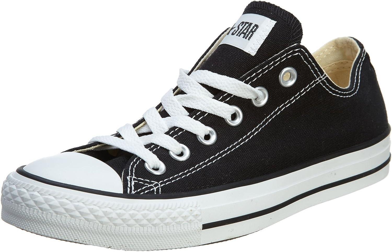 Converse Unisex Chuck Taylor All Star OX Sneaker (8.5 Men 10.5 Women, Black)