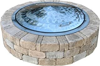 Stainless Steel Fire Pit Cover Dome Lid Swirl Finish 36